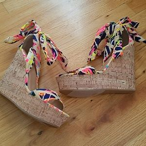 Bamboo | Neon colored wedges